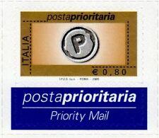 2005 Italia repubblica Italiana posta prioritaria Prioritario € 0,80