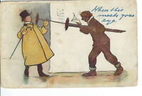CA-275 Startled by the Chimney Sweep Comic Divided Back Postcard Vintage