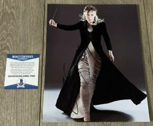 HELEN MCCRORY SIGNED AUTOGRAPH HARRY POTTER 8x10 PHOTO w/PROOF & BECKETT BAS COA