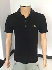 Camiseta Polo Lacoste para hombre, tamaño pequeño, 2, Negro, Inmaculada