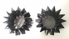 Pair of Runway Gothic Black Spike Stretch Bangle Bracelets