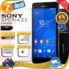 (NEW SEALED BOX) SONY XPERIA Z3 COMPACT D5833 4G LTE UNLOCKED BLACK + OZ WTY