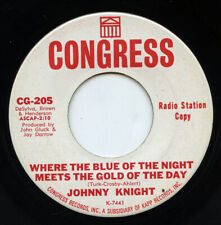 Rare Teen 45 - Johnny Knight - Where The Blue Of The Night Meets The Gold Of The