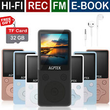 AGPtEK 2018 Latest Version MP3 Lossless Sound Music Player with 32GB Micro SD TF