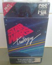 VINTAGE STAR WARS TRILOGY NOS SEALED  ORIGINAL FIRST RELEASE VHS CBS RED LABEL