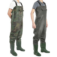 PVC Chest Waders 100% Waterproof Fly Coarse Fishing Wader Boot Full Size