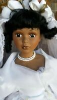"""Porcelain Doll African American Brice 22"""""""