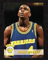 "1993-94 NBA Hoops #341 Chris Webber Warriors Michigan ROOKIE Card ""mrp""  NM/MT"