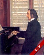 MUSIC COMPOSER ERIC SATIE PLAYING HARMONIUM PIANO PAINTING ART REAL CANVAS PRINT