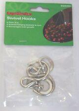 4 Swivel Hooks Polyanthus Hanging Baskets Holly Snow