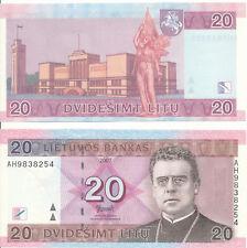 Litauen / LITHUANIA - 20 Litu 2007 UNC - Pick 69