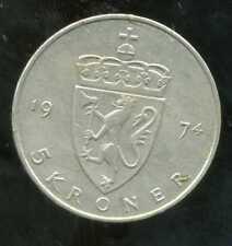 NORVEGE  5 krone 1974