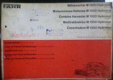 Fahr Mähdrescher M1300 Hydromat Ersatzteil-Katalog
