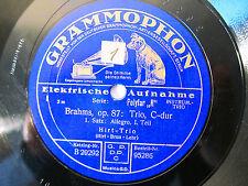 4x 78rpm HIRT TRIO - BRAHMS Trio No.2 - ORIG. GERMAN GRAMMOPHON