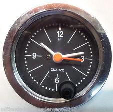 FIAT 500 F/L/R 126 OROLOGIO CROMATO FONDO NERO STRUMENTO DI BORDO CRUSCOTTO 52