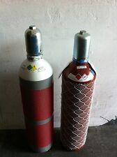 Gasflaschen Acetylen und Sauerstoff 20 Liter, Autogen schweißen, 10-Jahre TÜV