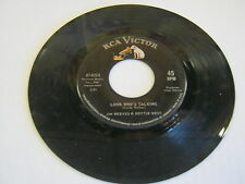 Jim Reeves Look Who's Talking/Love Is No Excuse 45 RPM RCA Victor Records
