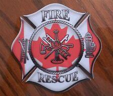 """Canada Fire Rescue Decal Contour Cut 4"""""""