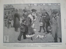Plasmon Cocoa For Such as These 1903 old art advert Dudley Hardy