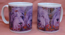BEARDED COLLIE DOGS DESIGN MUG PORTRAIT OIL PAINTING PRINT SANDRA COEN ARTIST