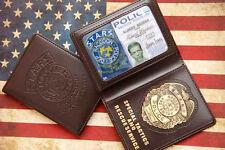 Resident Evil Stars Wesker Police Badge With ID Wallet Holder Case-D508