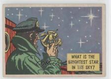 1957 Topps Isolation Booth #20 What Is the Brightest Star in Sky? Card 0s4