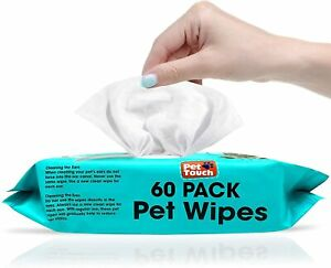 All Purpose Dogs & Cats Ear Mouth Paw Cleaning Wet Wipes Alcohol Free Pet Wipes