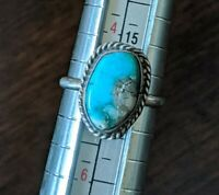 Vintage 925 Sterling Silver Southwestern Turquoise Native American Ring Size 5