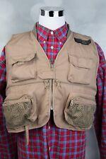 Men's Orvis Brown / Khaki Mesh Fishing Hunting Vest Sz XL