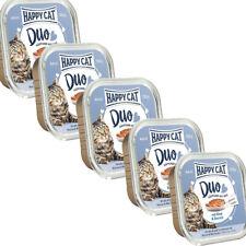 HAPPY CAT DUO Rind & Dorsch 5 Stück Set Nassfutter Für Erwachsene Katzenfutter