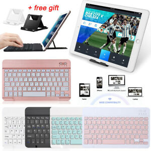 UK For Apple iPad 1/2/3/4/5/6/7/8 Air 4th Pro Wireless Bluetooth Keyboard +Stand