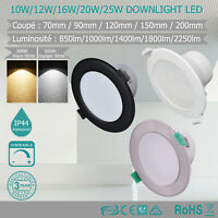 Lot de 6 10W/12W/16W/20W/25W Downlight LED Dimmable , LED Spot Encastrable IP44