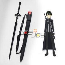 Sword Art OnlineⅡMother's Rosary Kirito's Black Sword with Strap Cosplay Prop
