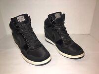 Nike Air Force Sky High Wedge Black Sneaker 629746-001 Women Size 7 M