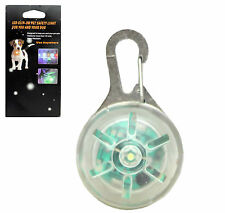 New Dog Pet Safety LED Flashing Light Night Clip-Security Circular Belt Pendant