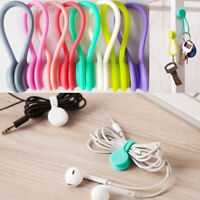 4Pcs Magnetic Silicone Earphone Cord Winder Cable Wrap Holder Organizer Gracious