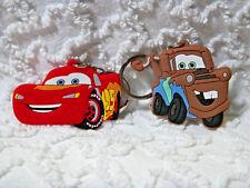 New Disney Cars 3D Pvc Key Chain/Zipper Pulls Car Jacket Lot Of 2  K 400