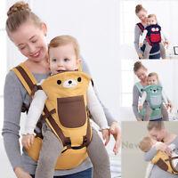 Newborn Baby Carrier Sling Wrap Backpack Front Back Chest Ergonomic Adjustable