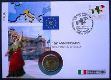 Italia 2011 NUMISBRIEF 150 Anni unificazione d'Italia 2 euro 2011