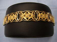 925er Armband Alt Vergoldet mit Sischerheits kette Lang 18 Breit 2 cm Ge 24,2 Gr