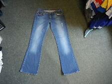 "P.J.C.R.L. whitney Repair Patch Jeans S10 L33"" Faded Medium Blue Ladies Jeans"