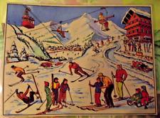 Map Expo School Poster set table Winter Sport Resort Ski Luge Chalet