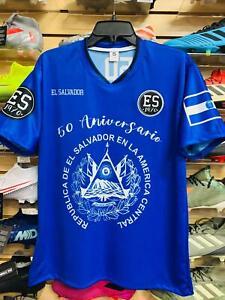 CAMISA AZUL DE EL SALVADOR 50 ANIVERSARIO /MEN'S EL SALVADOR BLUE SHIRT