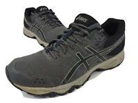 ASICS T724N Gel-Sonoma 3 Gray / Blue Athletic Running Shoes Men's Size 10.5