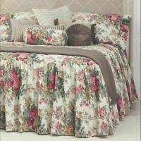 Rosewood Floral Print Skirted Bedspread by Gainsborough | Fitted style | Queen