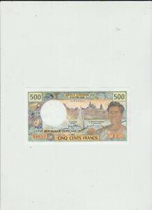TAHITI  500  FRANCS  AU/UNC