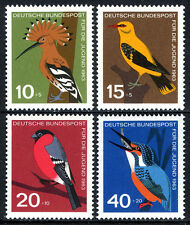 Germany B388-B391, MNH. Birds. Hoopoe, Golden oriole, Bullfinch, Kingfisher,1963
