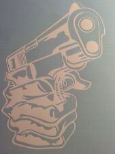 gun vinyl decal window sticker 2nd Admendment
