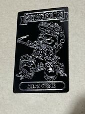 Garbage Pail Kids Custom Mean Gene Engraving On Anodized Aluminum