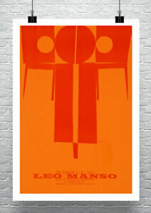 Leo Manso 1964 Mid Century Modern Art Poster Rolled Canvas Giclee Print 17x24 in